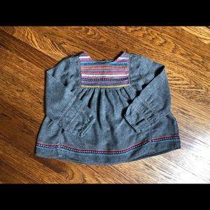 Zara Girls Embroidered Blouse 18-24 months